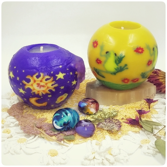 *SOLD*90's Vtg Magic Glow Candles set of 2